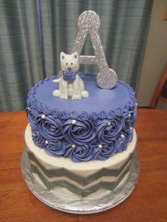 cat cake rosette swirl cake chevron cake
