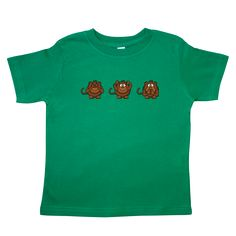 The well-known #wise #monkeys #See no #evil, #Hear no evil, #Speak no evil #Toddler #T-Shirt  www.inktastic.com