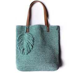Best 12 Totally handmade crochet tote bag with short or long knitted handles. Huge variety of colors available. Bag Crochet, Crochet Handbags, Crochet Purses, Macrame Bag, Jute Bags, Purse Patterns, Knitted Bags, Handmade Bags, Purses And Bags