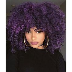 Braids Afro punk Afro of the day, purple curls I'd never be able to have this hair but it's absolutely gorgeous!Afro punk Afro of the day, purple curls I'd never be able to have this hair but it's absolutely gorgeous! Crochet Braids Hairstyles, Afro Hairstyles, Pretty Hairstyles, Wedding Hairstyles, Simple Hairstyles, Black Hairstyles, Festival Hairstyles, Hairstyles Videos, Latest Hairstyles