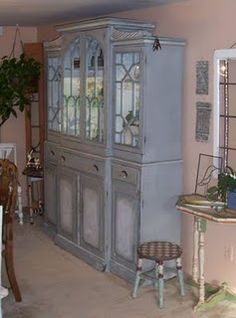 Chalk Paint China Cabinet