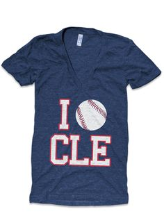 I Love CLE-TRIBE V-Neck by Cleveland Clothing Co.