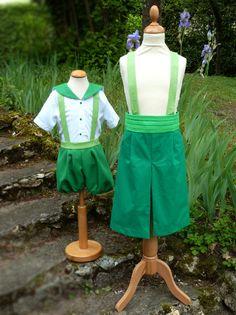 cortège en camaieu de verts: robe Hélène, robe Béné...