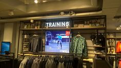 Sportsfashion concept at Perry Sports new flagshipstore at Kalverstraat Amsterdam