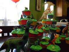 Cupcakes- could work with a farm or jungle theme