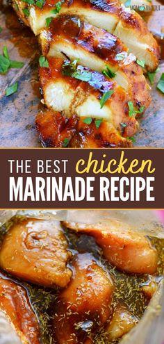 Easy Chicken Breast Marinade, Baked Chicken Marinade, Chicken Marinades, Keto Chicken, Chicken Marinade For Grilling, Rotisserie Chicken, Healthy Chicken, Grilled Chicken, Bbq Chicken