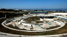 View of the disused Olympic canoe/kayak stadium in Athens on June 11, 2012. Greece has been criticized for spending excessive amounts of money on the 2004 Athens Olympic Games venues and failing to utilize most of them after the completion of the Games. (Angelos Tzortzinis/AFP/Getty Images)