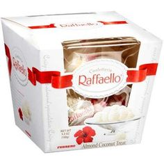 Ferrero Raffaello Chocolates x Packs] Best Candy, Favorite Candy, Raffaello Chocolate, Nutella, Coconut Candy, White Almonds, Gourmet Gifts, Indian Sweets, Candy Containers