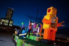 Tulsa's Mardi Gras Parade goes through the Blue Dome District and features incredible floats, plenty of costumes, toys and more.