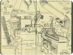 Penland letterpress sketch by Chandler O'Leary