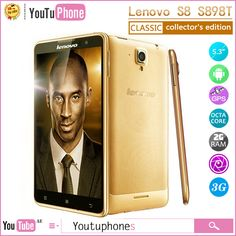 "Find More Mobile Phones Information about Gold Lenovo S8 S898t+ Mobile Phone Mtk6592 Octa Core Cell Phones 2gb Ram 16gb Rom 5.3"" Fhd Hd 1280x720 Ogs Screen 13.0mp Camera,High Quality Mobile Phones from Youtuphones Team on Aliexpress.com"