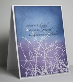 winter sky.  embossed, stamp sentiment first