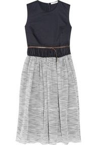 Carven Twill skirt with belt