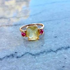 Vintage and Ruby 14k Rose Gold/SS Ring - Mercari: Anyone can buy & sell