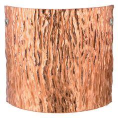 Besa 7118CF-SN Stone Copper Foil Tamburo Wall Light - 7118CF-SN