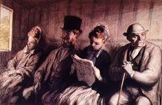 Honoré Daumier (1808-1879) – Intérieur d'un wagon de première classe (1856)