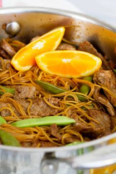 Great Asian flavors in a hurry - this Orange Teriyaki Beef with Noodles is not only fast, but full of flavor. Plus, it's a kid friendly dinner that everyone will love!