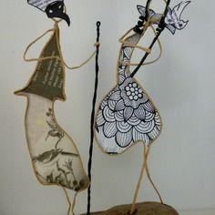 Carnaval à venise - figurines en ficelle et papier