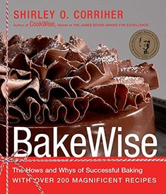 BakeWise: The Hows and Whys of Successful Baking with Over 200 Magnificent Recipes - Kindle edition by Corriher, Shirley O.. Cookbooks, Food & Wine Kindle eBooks @ Amazon.com. Chocolate Crinkles, Dark Chocolate Cakes, Chocolate Lovers, All You Need Is, Creaming Method, Baking Science, Food Science, Flaky Pastry, Moist Cakes