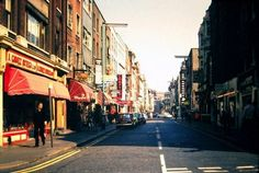 Old Crompton Street Soho Central London England in 1973