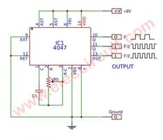 electronic circuit projects CD4047 Simple Astable multivibrator Circuit | Electronics Projects Circuits Simple Electronic Circuits, New Electronic Gadgets, Electronic Circuit Projects, Electronic Shop, Electronic Engineering, Electronics Projects, Simple Electronics, Wave Electronics, Electronics Gadgets