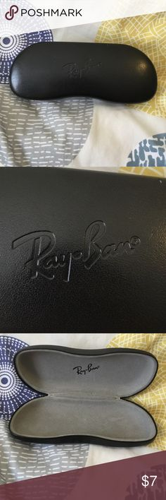 Ray Ban Glasses Case like new, used, has small scratches(not too noticeable), hard case Ray Ban Accessories Glasses