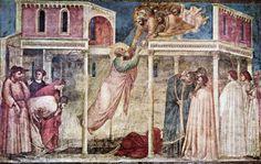 Перуцци Часовня. Жизнь Иоанна Богослова. Фрески Джотто. Вознесение Иоанна Богослова. 1320
