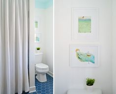 Bathroom makeover (click through for the before and sources/paint colors)