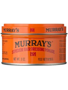 Murray's Superior Hair Dressing Pomade - The original since 1926. Murray's is one of the world's leading hair pomades. Stylists worldwide praise Murray's versatility and ability to create any style. Adds texture, shine and lift while holding the hair in place all day. Perfect for all types of people with all types of hair. One of the best pomade! Many celebrities use this stuff same as top hair stylist like... Sally Hershberger where you pay $800 for a haircut.