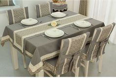 Table Covers Sofa Covers Dining Set Dining Chairs Mug Rugs Dinner Table Kitchen Towels Table Runners Table Linens Dining Table Cloth, Dinning Room Tables, Table Linens, Dining Chairs, Chaise Diy, Balcony Chairs, Diy Home Decor, Room Decor, Diy Chair