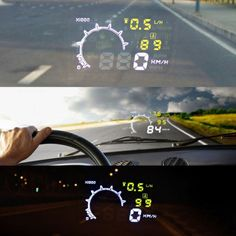 HUD проектор скорости на лобовое стекло автомобиля  / alliex.ru