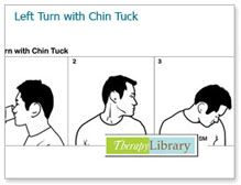 Head Turn to the Left With Chin Tuck