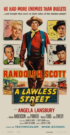 A Lawless Street (Columbia, 1955) - U.S.A. Poster