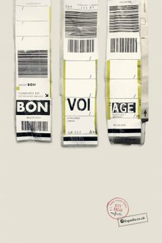 bon voi age campaign for Expedia (UK), the agency Ogilvy played on aa abbreviations luggage tags. It's clever :-)