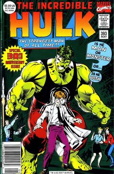 The Incredible Hulk #393, may 1992, cover by Dale Keown.