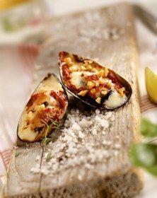 Mussel gratin tapas recipe