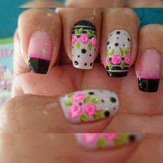 Natural Acrylic Nails, Nail Inspo, Summer Nails, Nail Art Designs, Lily, Beauty, Rose Nails, Enamel, Bling Nails