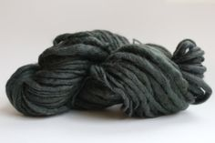 Olive Color  Hand Spun Hand Dyed  Thick and Thin   by handspunwool, $12.00
