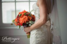 A fall Cincinnati wedding at The Bell Event Centre and Eden Park with orange and blue details. Bridal Bouquet Fall, Wedding Bouquets, Wedding Dresses, Photography Photos, Wedding Photography, Beautiful Bouquets, Cincinnati, Photo Ideas, Photographers