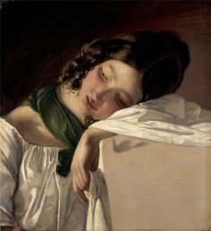 Friedrich von Amerling (April 14, 1803 – January 14, 1887)Young Girl