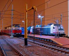 Maqueta ferrocarriles españoles. Escala H0.