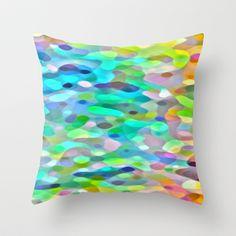 In The Swim Throw Pillow by Betty Mackey - $20.00