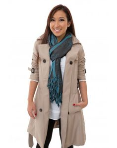 Throw in some color by adding a scarf to your look!