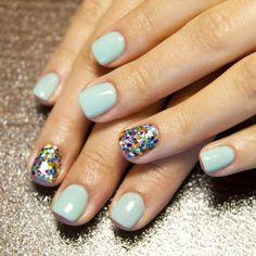 Glitter + gel polish