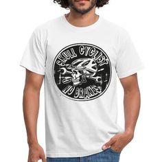 FAHRRAD, TOTENKOPF, BIKE, GESCHENKIDEE, T-SHIRT - Männer T-Shirt