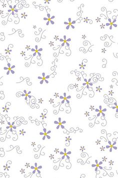 Patern - small flowers and swirls