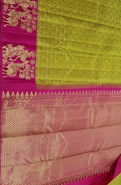 Green Handloom Kanjeevaram Pure Silk Saree                       #kanjeevaramsaree#puresilksaree# Kanchi Organza Sarees, Kanjivaram Sarees Silk, Kanchipuram Saree, Pure Silk Sarees, Wedding Sarees, Bridal Wedding Dresses, Bridal Outfits, Wedding Wear, Katan Saree
