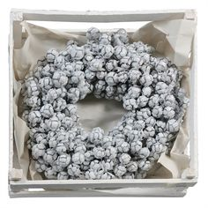 Buy these Festive pre-made Christmas White Waxed Cypress Wreaths at wholesale prices & direct UK delivery. Xmas Wreaths, Christmas Decorations, White Roses, White Flowers, Winter Wonderland Theme, White Wreath, Spray Roses, Wooden Crates, Festival Decorations