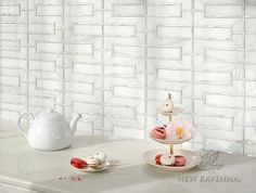 Mandarin Lattice handcut mosaic in polished Dolomite and Shell | The Altimetry Collection for New Ravenna
