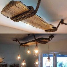 Are you looking for rustic lighting ideas to give your home a rustic look? I have here amazing rustic lighting ideas to give your home a rustic look. Rustic Lamps, Wood Lamps, Rustic Lighting, Home Lighting, Rustic Decor, Lighting Ideas, Wooden Chandelier, Industrial Chandelier, Lighting Concepts